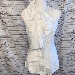 Diane Von Furstenburg Chic White Button Down Shirt
